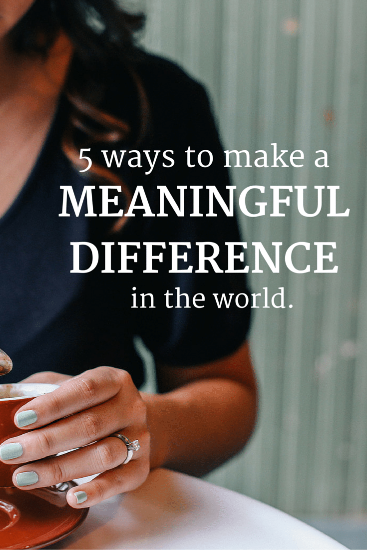 make a difference in the world essay