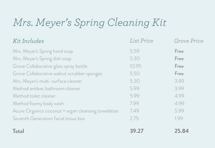 Mrs Meyers spring cleaning kit basket image