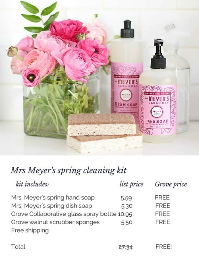 Mrs Meyer's spring cleaning kit custom