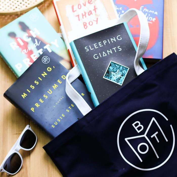 Book of the month july tote bag sunnies