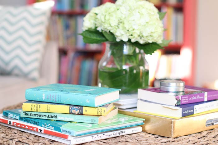 books-coffee-table-flowers-brightly