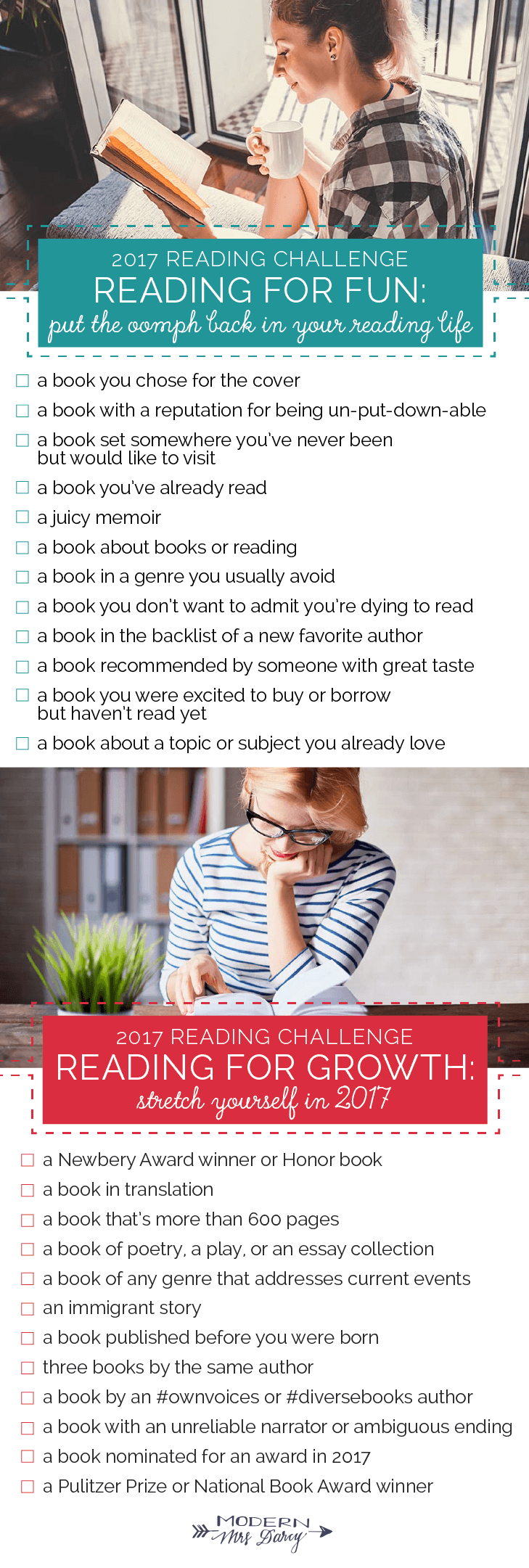 The 2017 Reading Challenge – Modern Mrs  Darcy