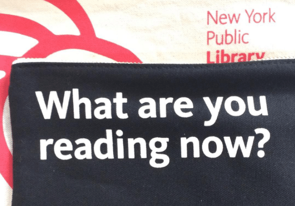 what are you reading now? nypl pouch