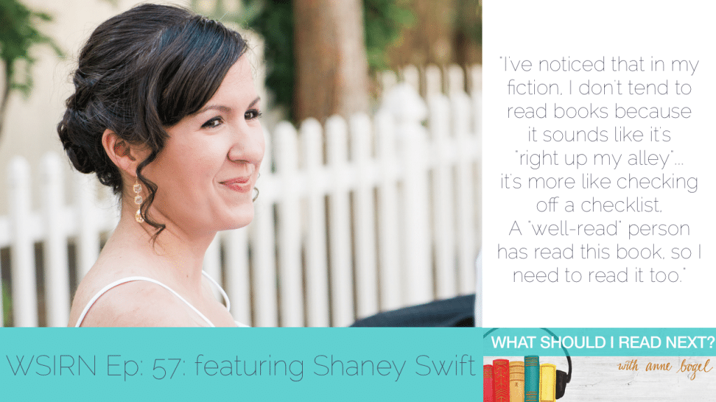 What Should I Read Next #57: What's your reading personality? with Shaney Swift
