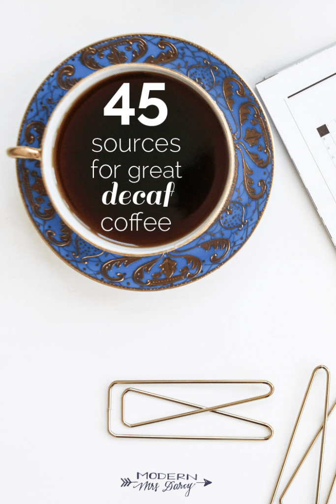 45 sources for great decaf coffee