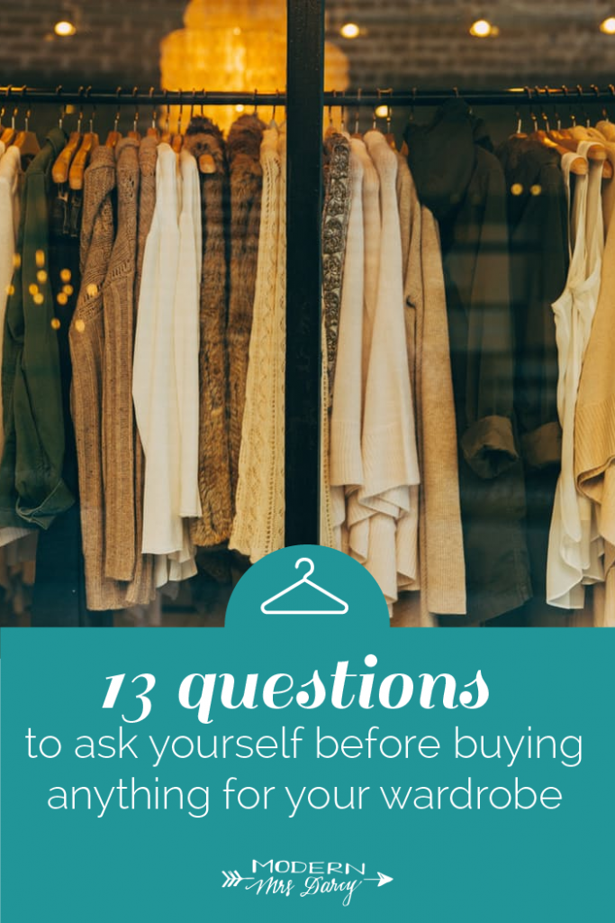 wardrobe buying tips