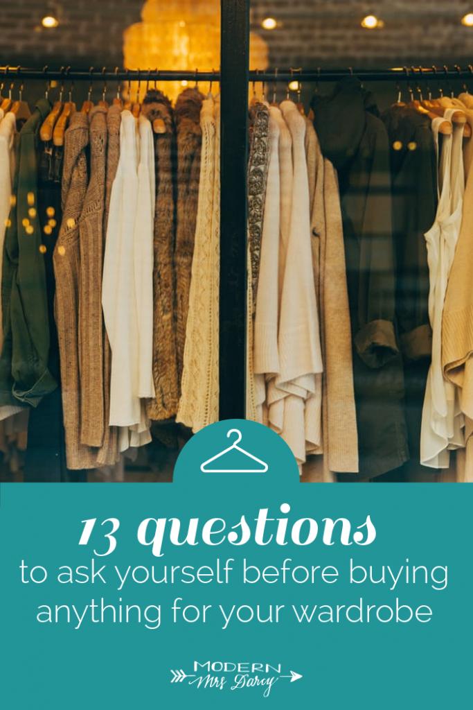 wardrobe buying tips