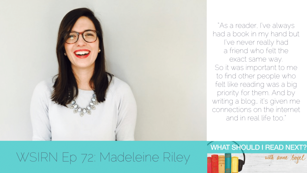 What Should I Read Next #72: Embarrassing bookworm confessions with Madeleine Riley