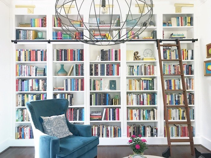 Here\u0027s the short version. The books above the rail are sets of special significance oversized or especially beautiful. Below the rail books are ... & Our home library \u2013 Modern Mrs. Darcy