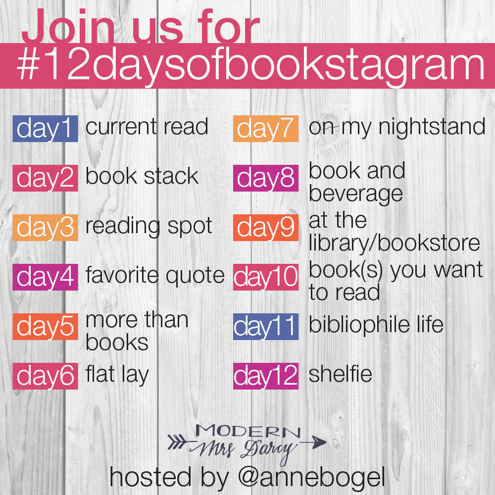 12 days to a better #bookstagram | Modern Mrs. Darcy