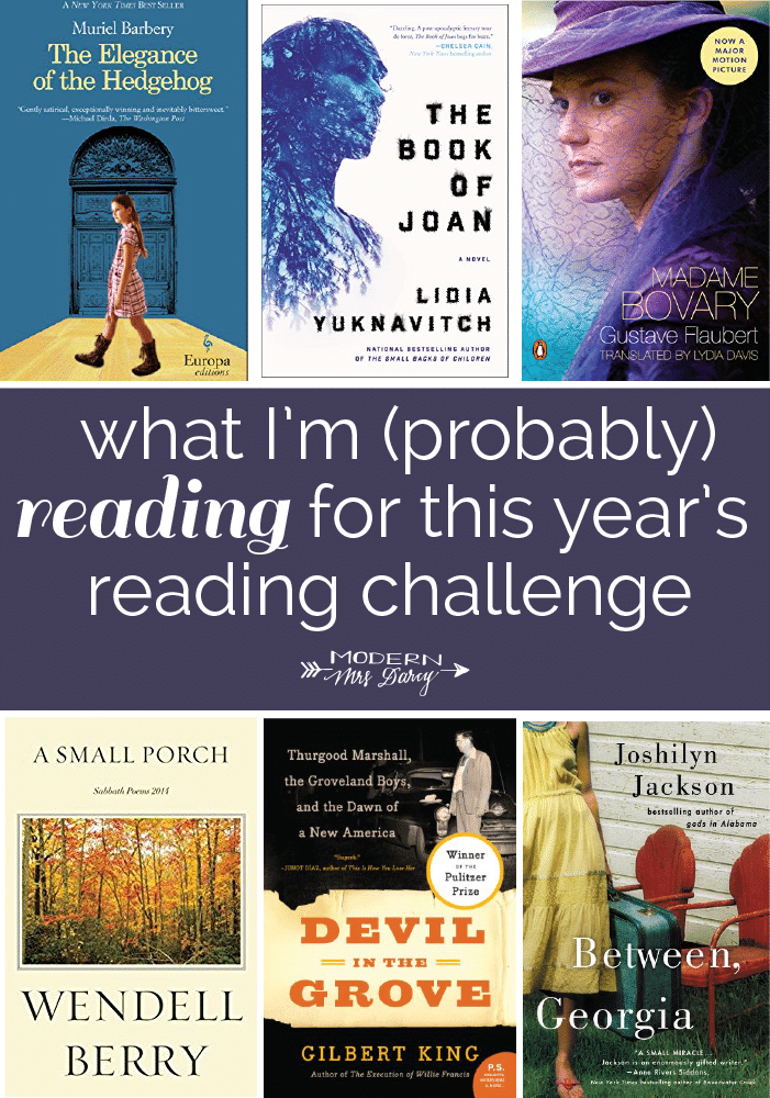 reading challenge picks