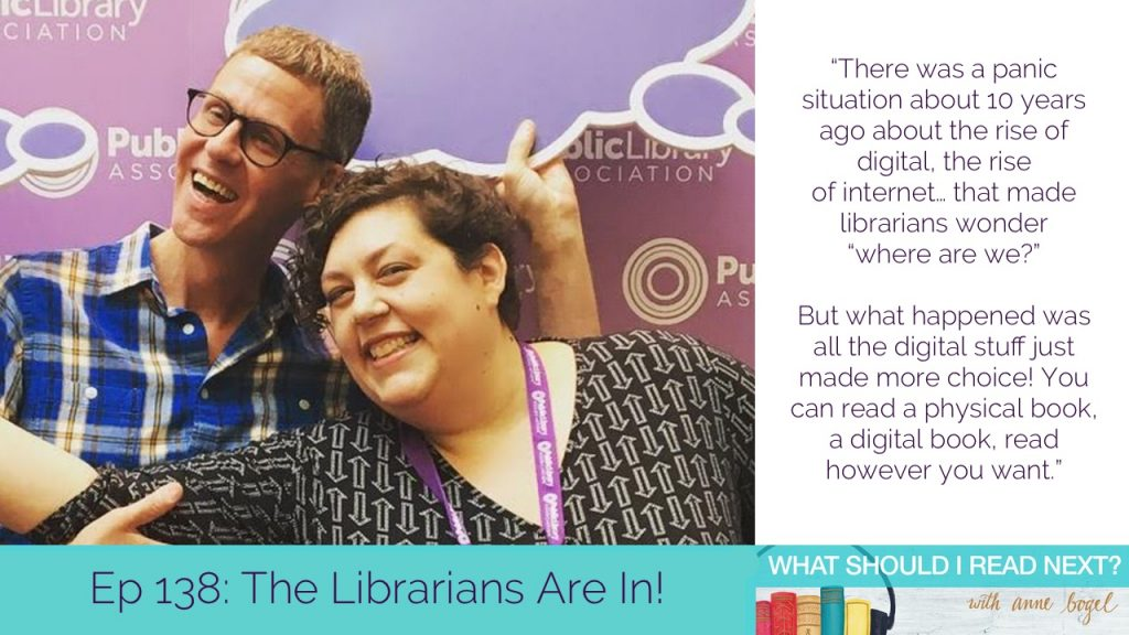 What Should I Read Next #138: The Librarians Are In with Gwen Glazer and Frank Collerius