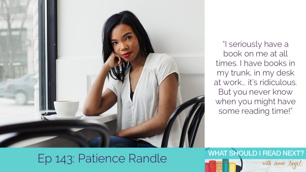 What Should I Read Next #143: The quest for the perfect coffeeshop read with Patience Randle