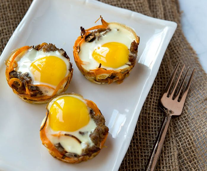 Prep Dish Sweet Potato Bird's Nests