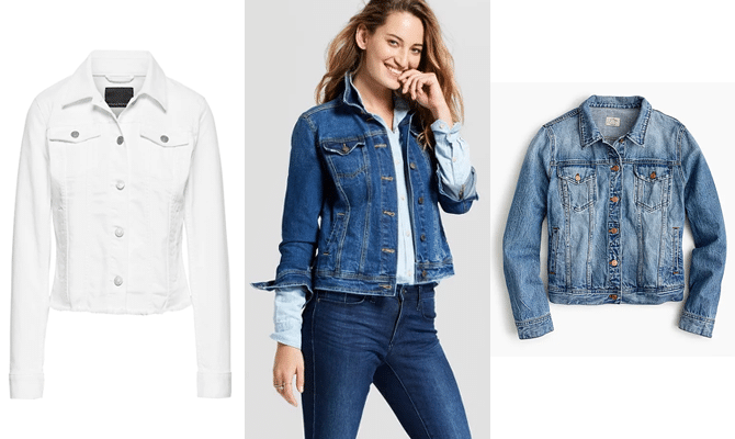 8 stylish pieces to transition your closet to summer cropped jean jacket