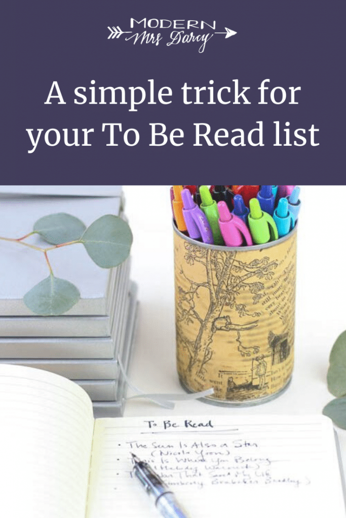 A simple trick for your To Be Read list