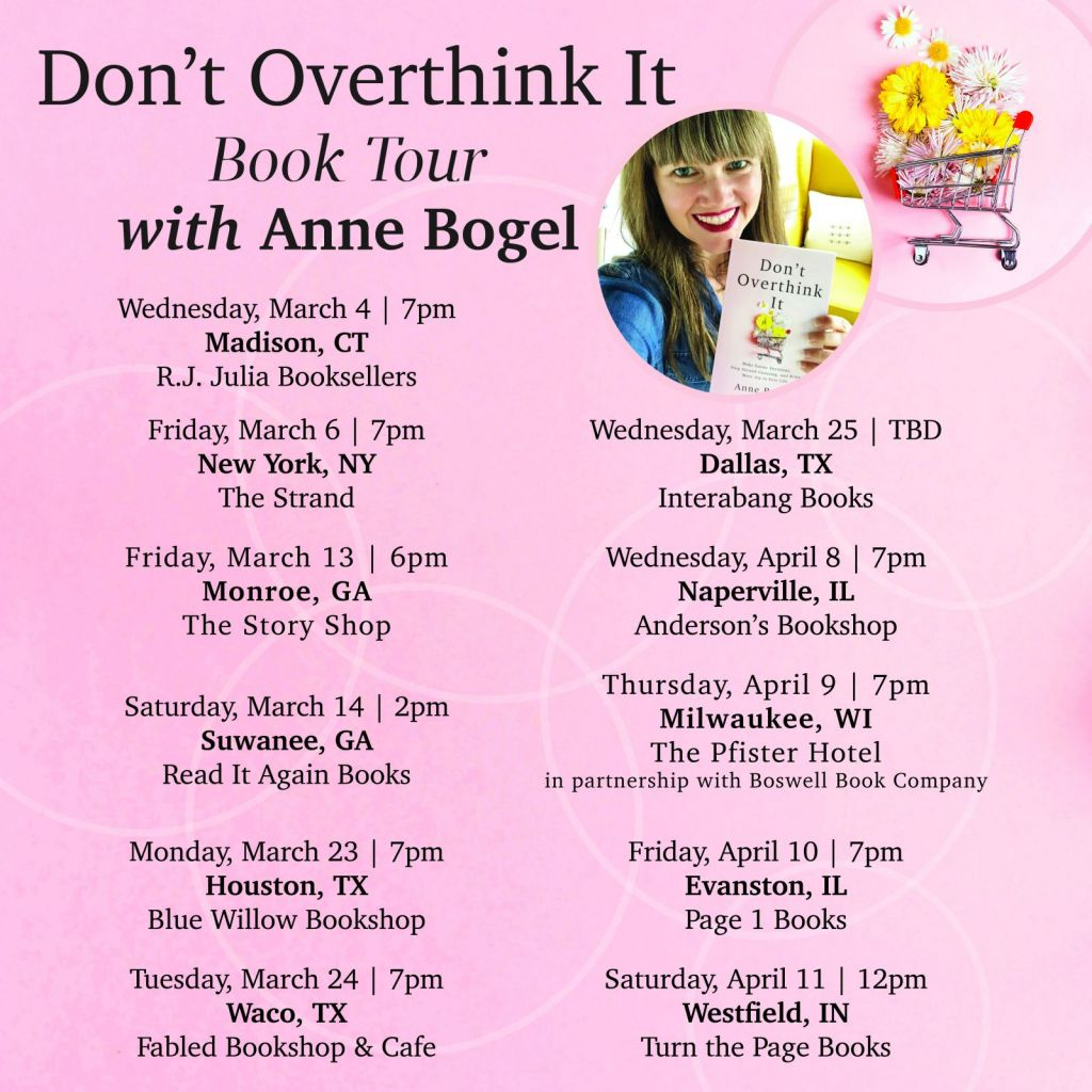 Don't Overthink It Book Tour Announcement