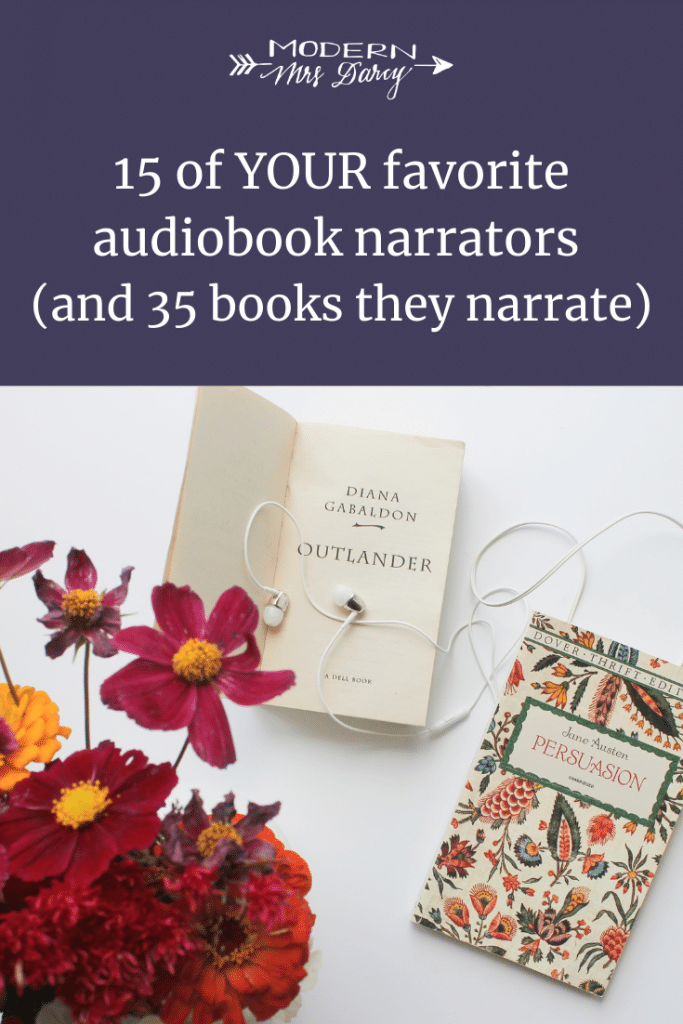 15 of YOUR favorite audiobook narrators (and 35 books they narrate)