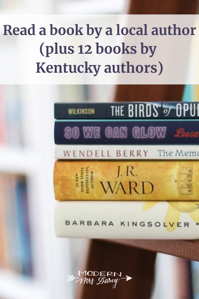 Read a book by a local author this year (plus 12 books by Kentucky authors)