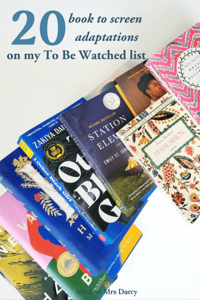 """20 book to screen adaptations on my """"To Be Watched"""" list"""