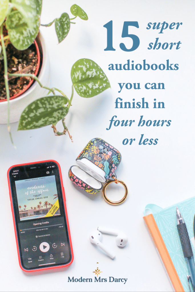15 super short audiobooks you can finish in four hours or less