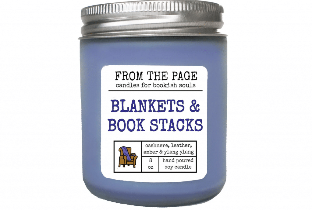 Blankets Book Stacks Soy Candle
