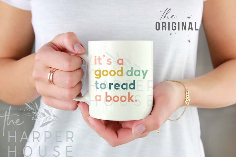 Its a good day to read a book mug