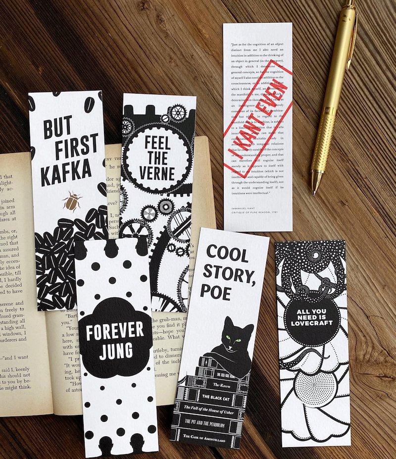 Puns Bookmark Set