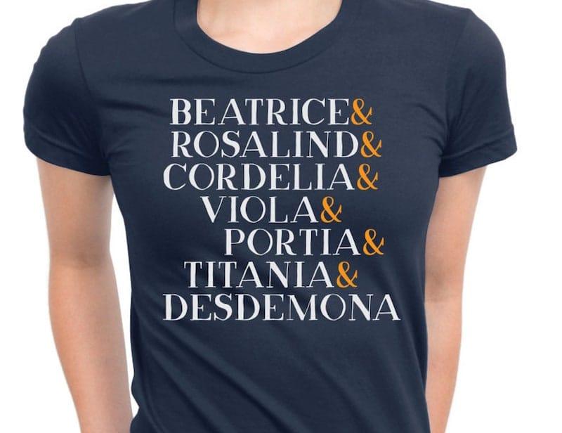 Shakespeare Heroines Shirt